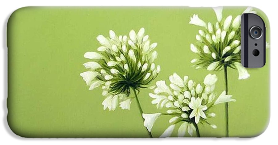 Flower IPhone 6 Case featuring the painting Agapanthus by Trisha Lambi