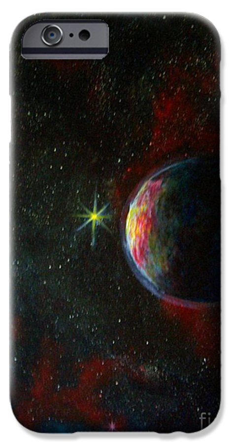 Cosmos IPhone 6 Case featuring the painting Alien Worlds by Murphy Elliott