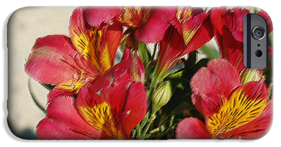 Alstroemeria IPhone 6 Case featuring the photograph Alstroemeria In Pastel by Suzanne Gaff