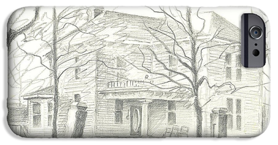 American Home Ii IPhone 6 Case featuring the drawing American Home II by Kip DeVore