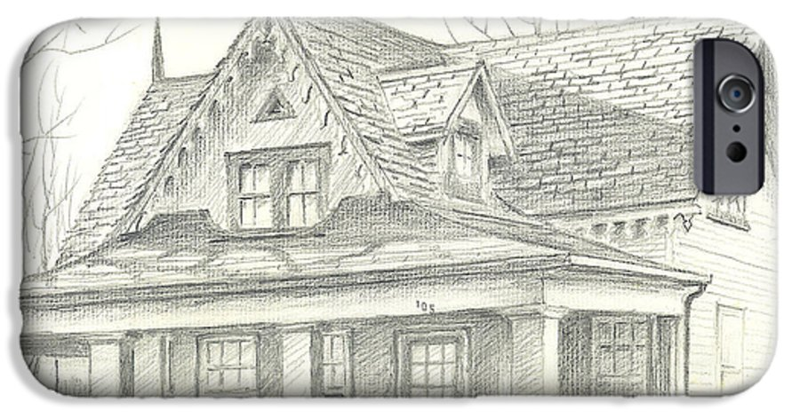 American Home IPhone 6 Case featuring the drawing American Home by Kip DeVore