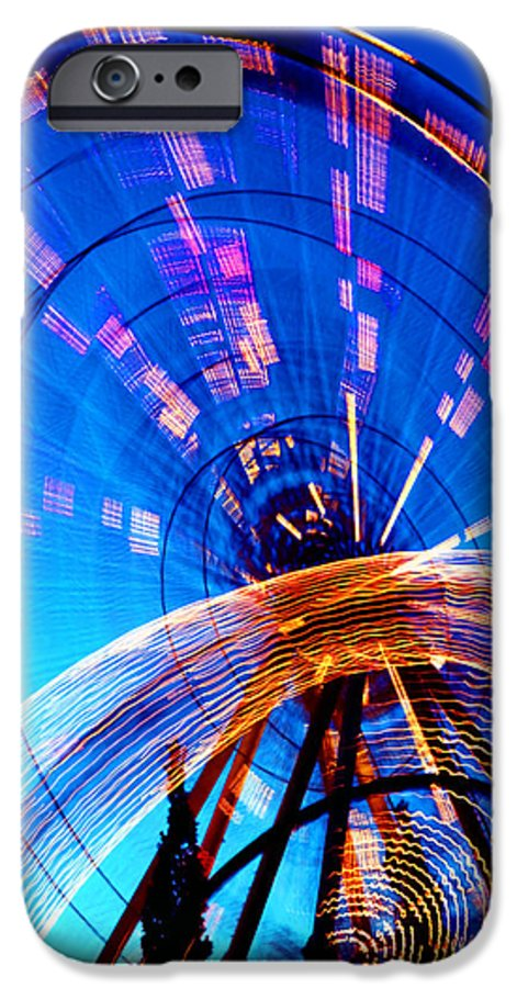 Amusement Park IPhone 6 Case featuring the photograph Amusement Park Rides 1 by Steve Ohlsen