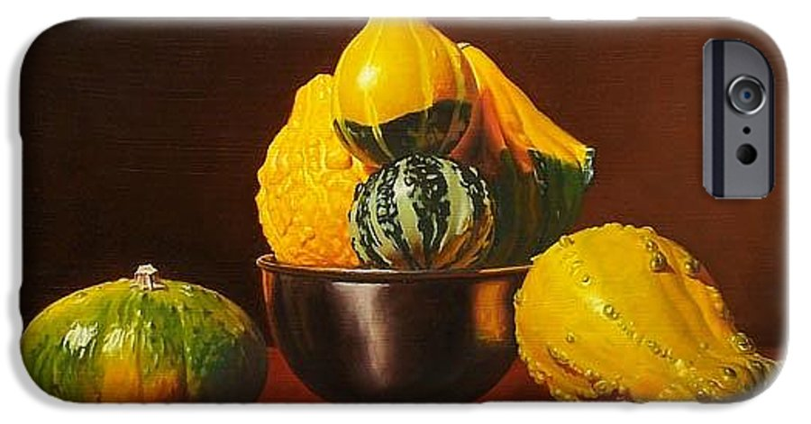 Still Life IPhone 6 Case featuring the painting An Arrangement Of Gourds by Gary Hernandez