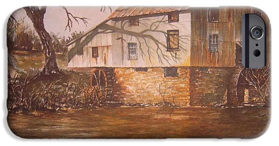 Landscape IPhone 6 Case featuring the painting Anderson Mill by Ben Kiger
