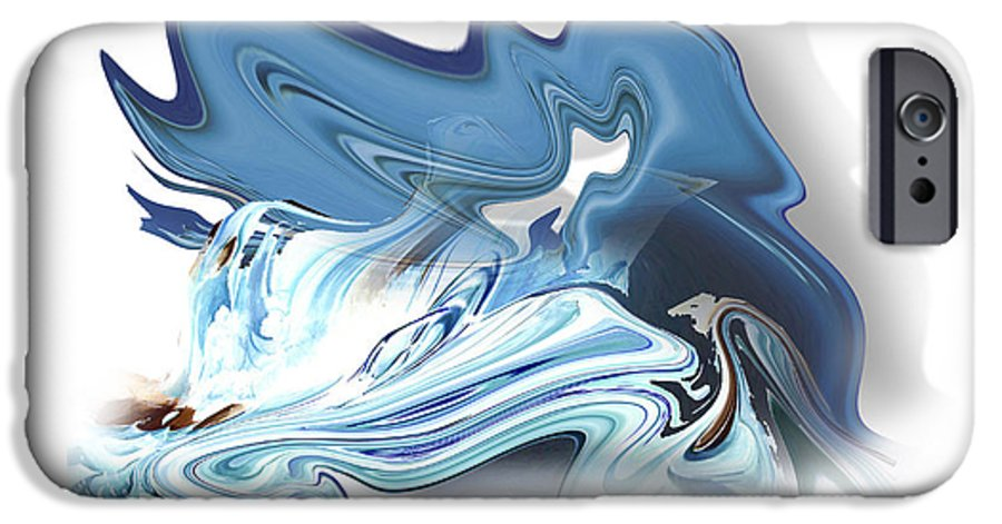 Astrology IPhone 6 Case featuring the painting Aquarius by Christian Simonian