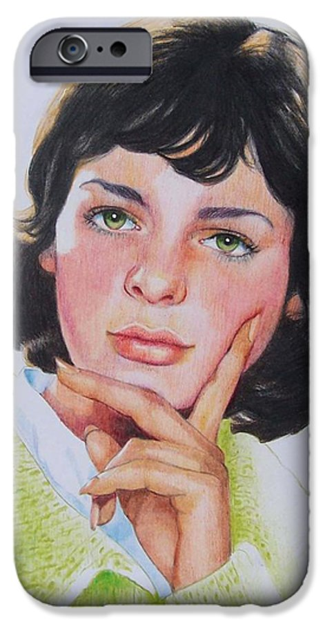 Portrait IPhone 6 Case featuring the mixed media Ariane by Constance Drescher