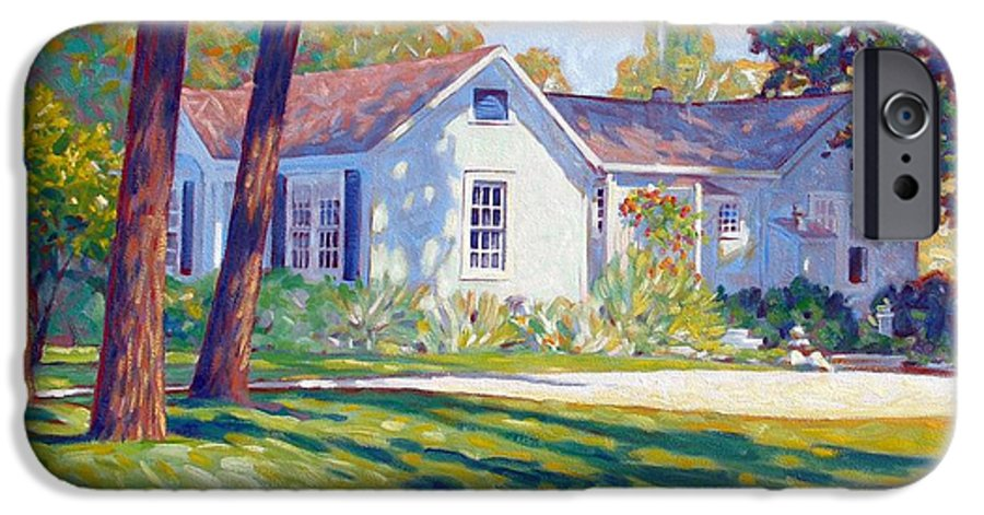 City IPhone 6 Case featuring the painting Artists Home by Kevin Lawrence Leveque