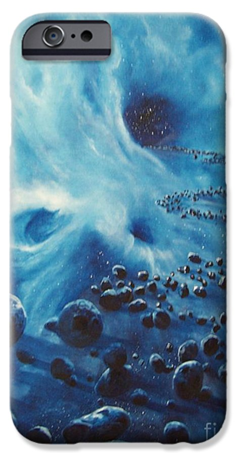 Si-fi IPhone 6 Case featuring the painting Asteroid River by Murphy Elliott