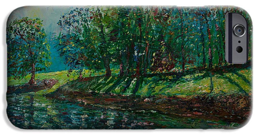 Oil IPhone 6 Case featuring the painting At Carondelet Park by Horacio Prada