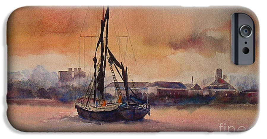 London IPhone 6 Case featuring the painting At Rest On The Thames London by Beatrice Cloake