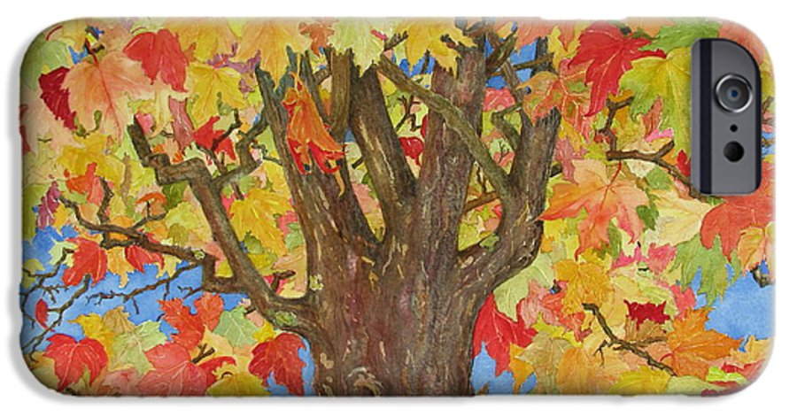 Leaves IPhone 6 Case featuring the painting Autumn Leaves 1 by Mary Ellen Mueller Legault