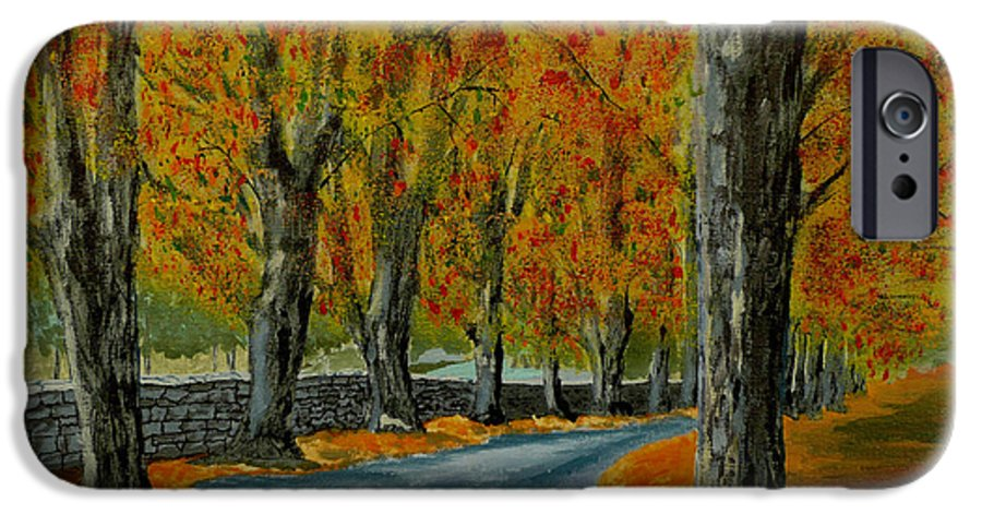 Autumn IPhone 6 Case featuring the painting Autumn Pathway by Anthony Dunphy