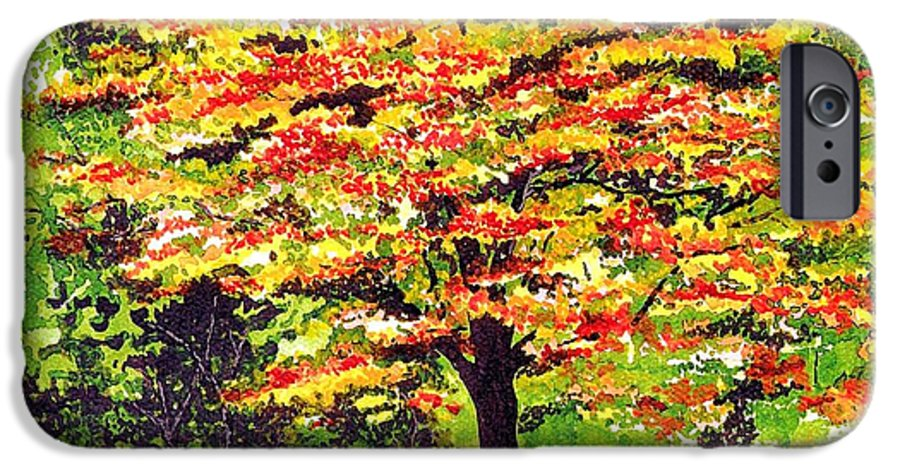 Fine Art IPhone 6 Case featuring the painting Autumn Splendor by Patricia Griffin Brett