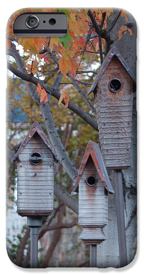 Birdhouse IPhone 6 Case featuring the photograph Awaiting Spring by Suzanne Gaff