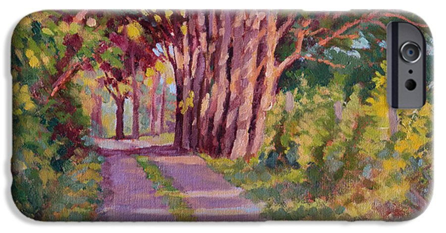 Road IPhone 6 Case featuring the painting Backroad Canopy by Keith Burgess