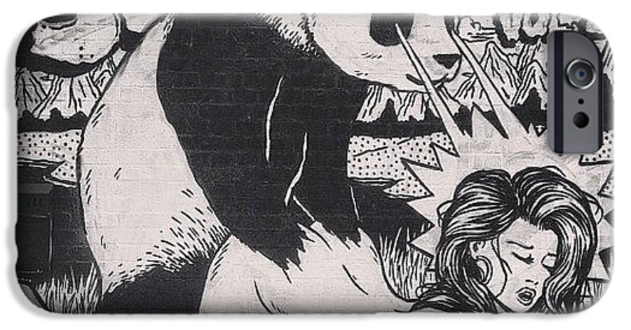 Brokenfingazcrew IPhone 6 Case Featuring The Photograph Badass Panda Graffiti Streetart By