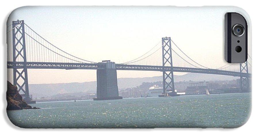 Bay Bridge IPhone 6 Case featuring the photograph Bay Bridge by Pharris Art