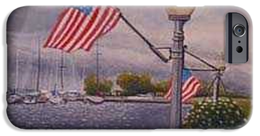 Rick Huotari IPhone 6 Case featuring the painting Bayfield On The 4th by Rick Huotari