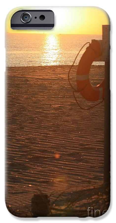 Beach IPhone 6 Case featuring the photograph Beach At Sunset by Nadine Rippelmeyer