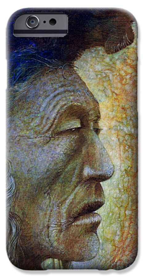 Bear Bull IPhone 6 Case featuring the painting Bear Bull Shaman by Otto Rapp