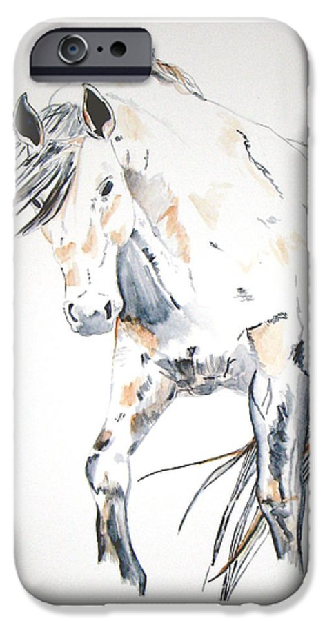 Horse IPhone 6 Case featuring the painting Beauty by Crystal Hubbard