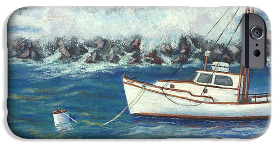 Ocean IPhone 6 Case featuring the painting Behind The Breakwall by Jerry McElroy
