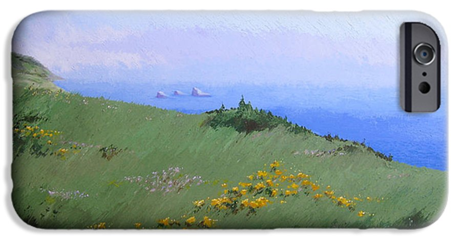 Landscape IPhone 6 Case featuring the painting Big Sur by Hunter Jay