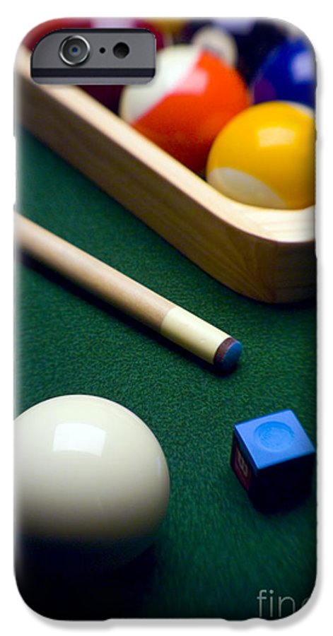Billiard IPhone 6 Case featuring the photograph Billiards by Tony Cordoza
