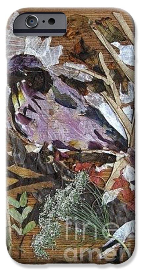 Bird Scrub Joy IPhone 6 Case featuring the mixed media Bird Scubjoy by Basant Soni