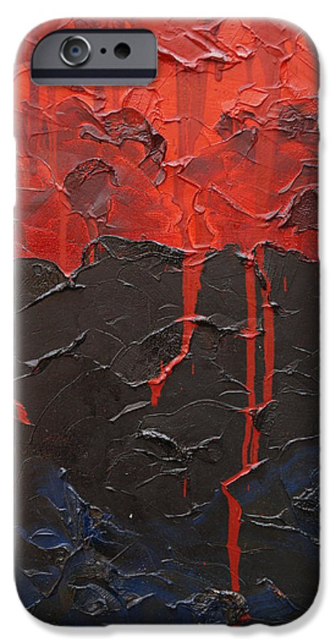 Fantasy IPhone 6 Case featuring the painting Bleeding Sky by Sergey Bezhinets