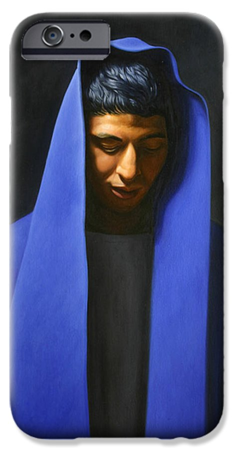 Blue IPhone 6 Case featuring the painting Blue by Gary Hernandez