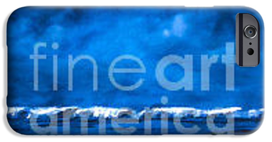 Abstract IPhone 6 Case featuring the painting Blue On Blue by Wendy Froshay