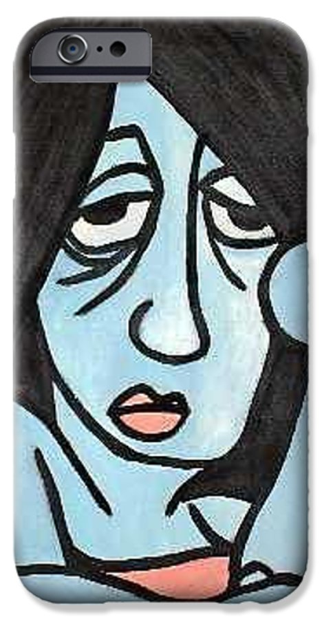 Portrait IPhone 6 Case featuring the painting Blue by Thomas Valentine