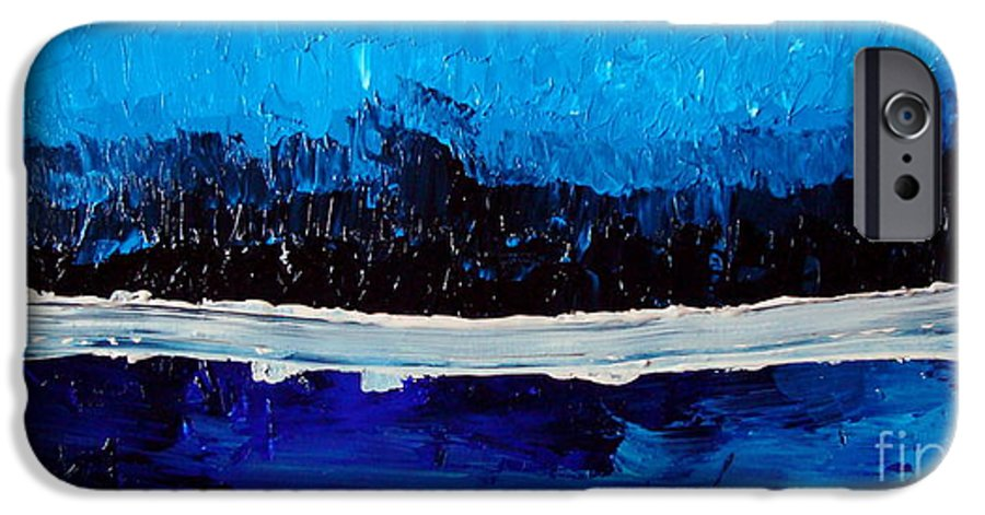 Blue IPhone 6 Case featuring the painting Blues by Holly Picano