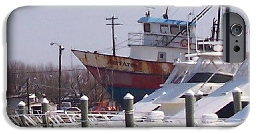 Boat IPhone 6 Case featuring the photograph Boats Docked by Pharris Art