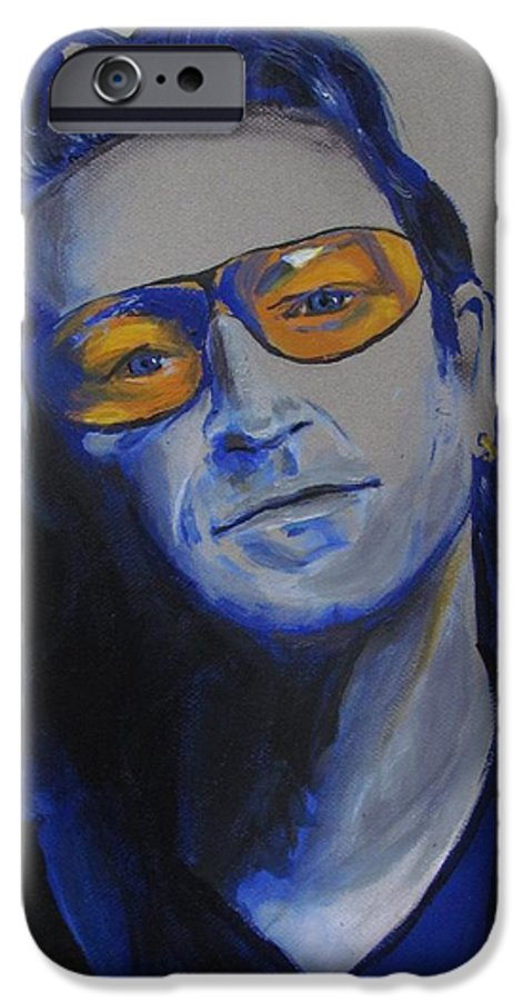 Celebrity Portraits IPhone 6 Case featuring the painting Bono U2 by Eric Dee