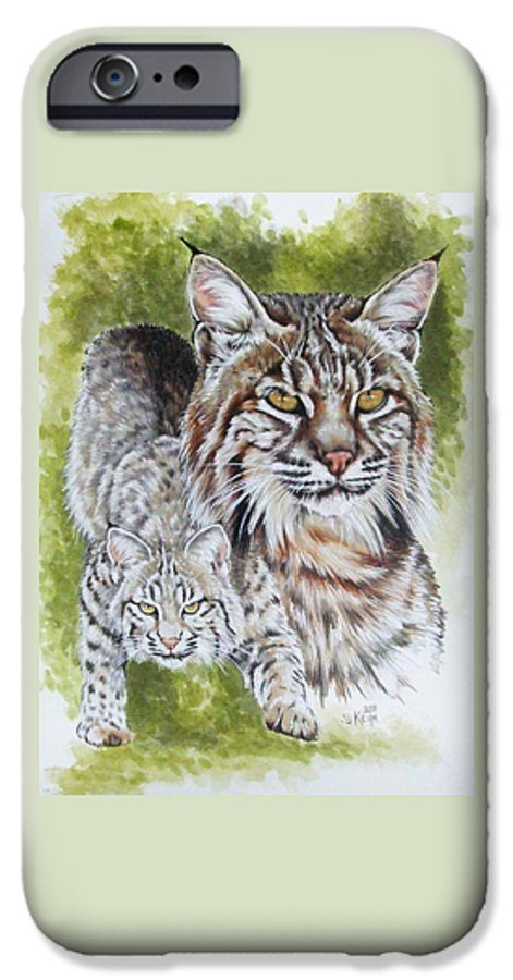 Small Cat IPhone 6 Case featuring the mixed media Brassy by Barbara Keith