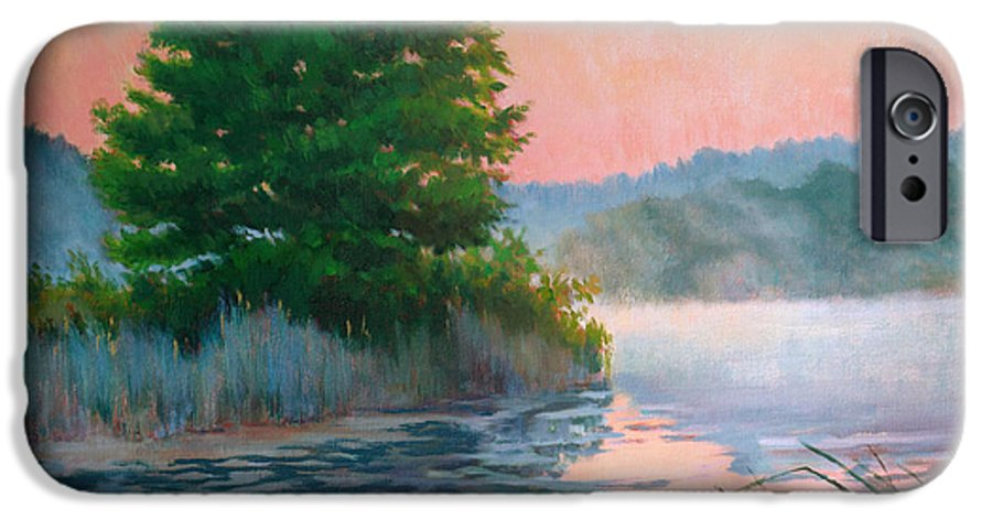 Impressionism IPhone 6 Case featuring the painting Break Of Day by Keith Burgess