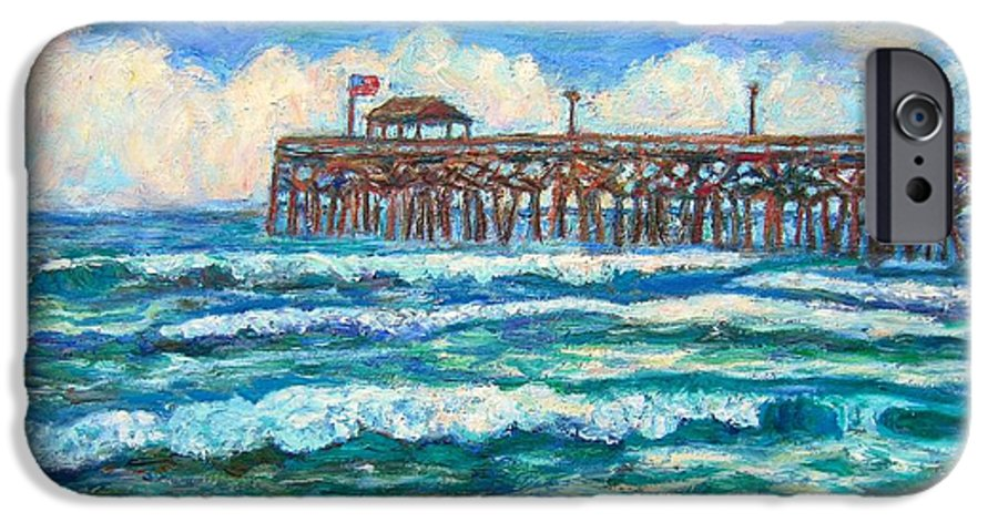 Shore Scenes IPhone 6 Case featuring the painting Breakers At Pawleys Island by Kendall Kessler