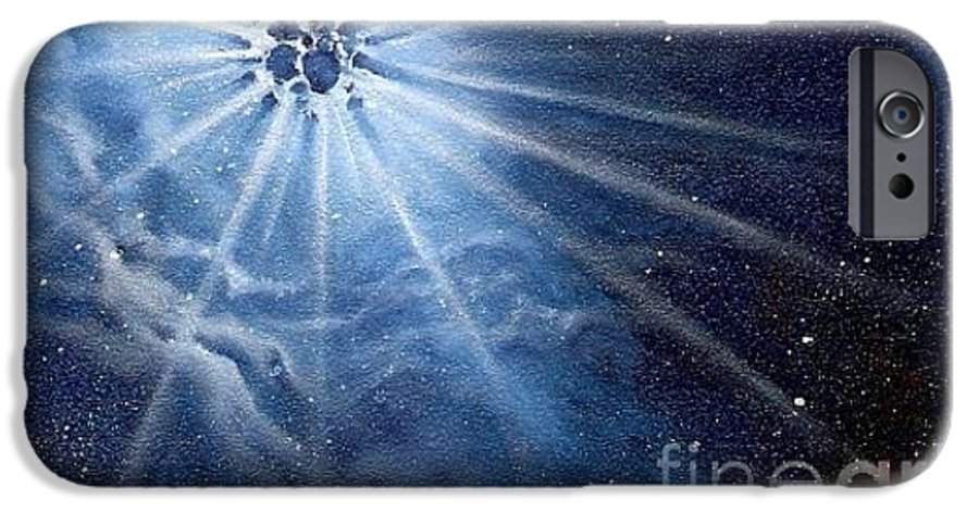 Outerspace IPhone 6 Case featuring the painting Burst Of Light by Murphy Elliott