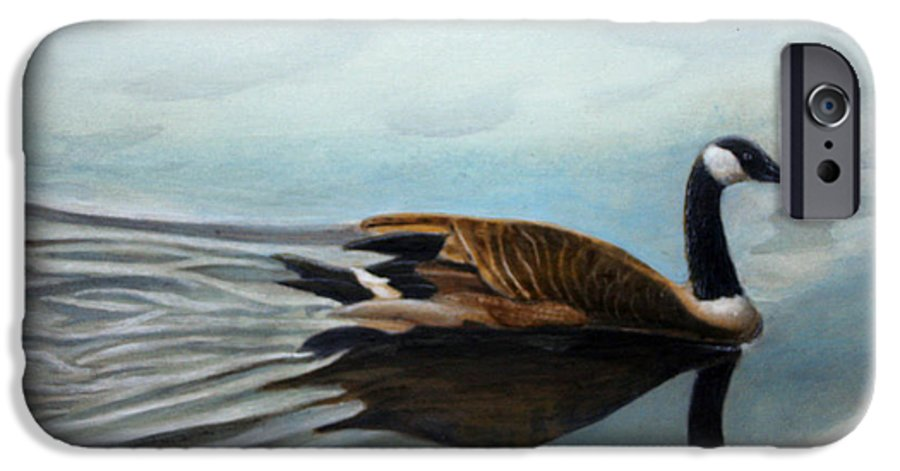 Rick Huotari IPhone 6 Case featuring the painting Canadian On The St. Croix by Rick Huotari
