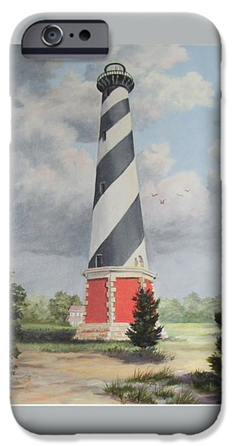 Sunrise Clouds IPhone 6 Case featuring the painting Cape Hatteris Sunrise by Wanda Dansereau