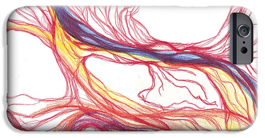 Capillaries IPhone 6 Case featuring the drawing Capillaries by Lindsay Clark