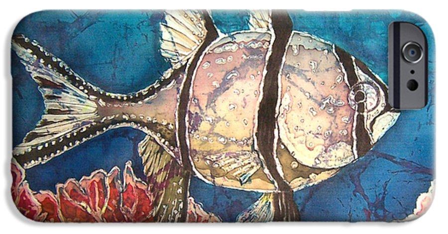Cardinalfish IPhone 6 Case featuring the painting Cardinalfish by Sue Duda