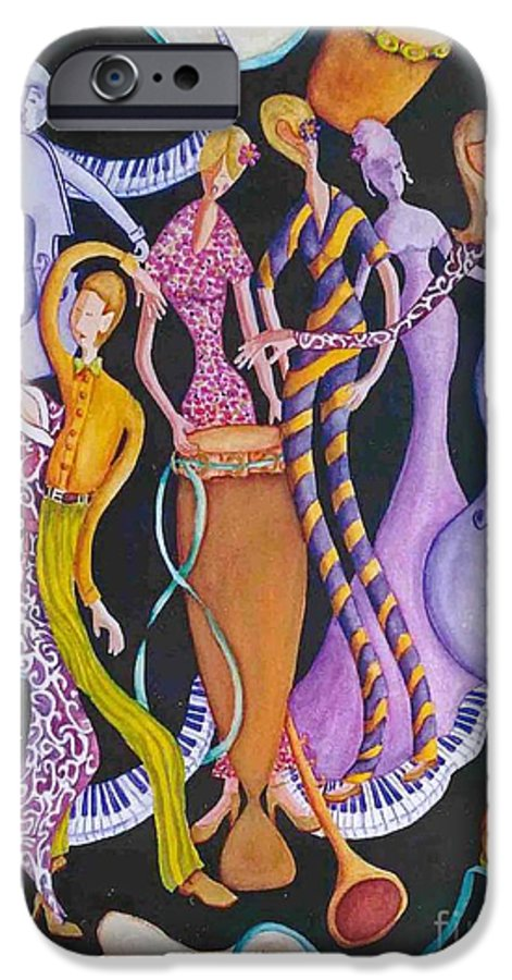 Dancers IPhone 6 Case featuring the painting Caribbean Calypso by Arleen Barton