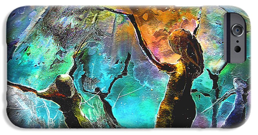 Miki IPhone 6 Case featuring the painting Celebration Of Life by Miki De Goodaboom