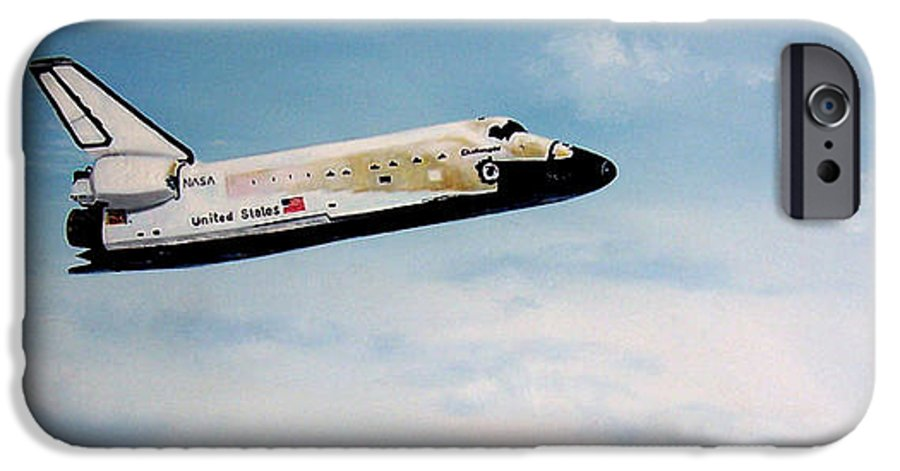 Shuttle IPhone 6 Case featuring the painting Challenger by Murphy Elliott