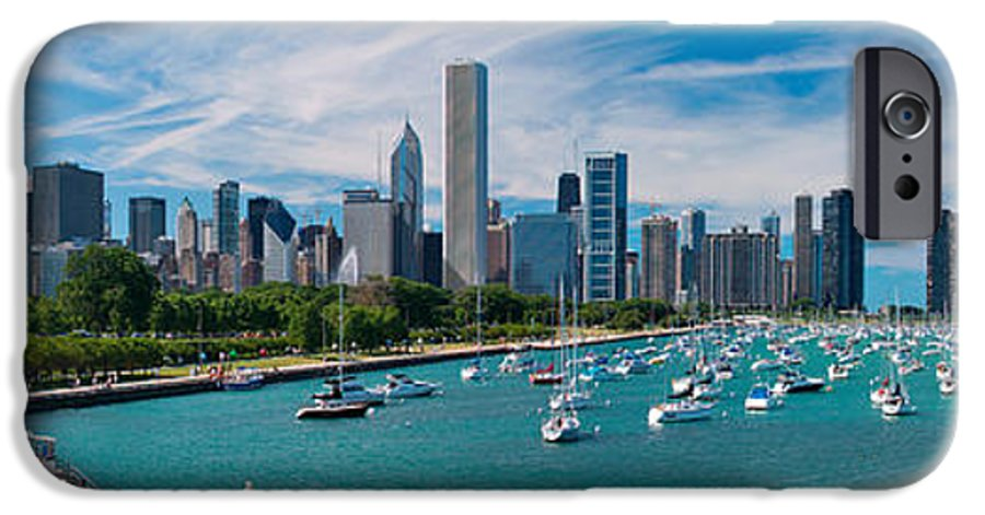 3scape IPhone 6 Case featuring the photograph Chicago Skyline Daytime Panoramic by Adam Romanowicz