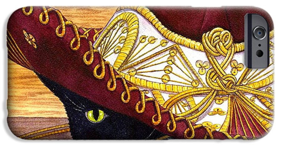 Cat IPhone 6 Case featuring the painting Cinco De Mayo by Catherine G McElroy