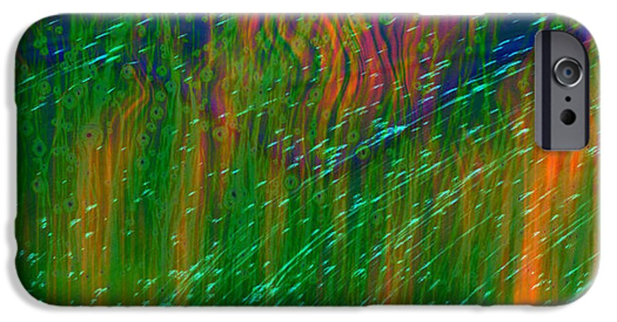 Abstract IPhone 6 Case featuring the digital art Colors Of Grass by Linda Sannuti